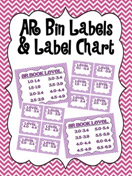 AR Leveled Bin Labels and Chart
