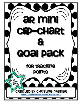 Accelerated Reader Mini Clip-Chart and Goal Pack - Points
