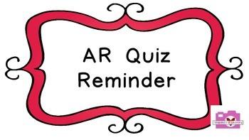 AR Quiz Reminder