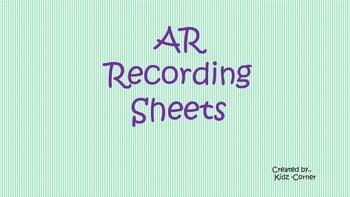 AR Recording Sheet