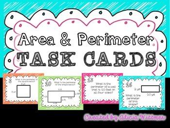 AREA & PERIMETER Task Cards {Aligned to Common Core}