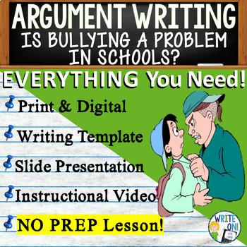 ARGUMENTATIVE / ARGUMENT WRITING PROMPT - Bullying Cyberbu