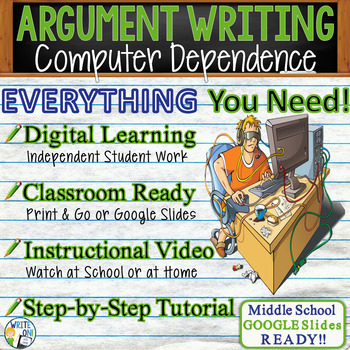 ARGUMENTATIVE / ARGUMENT WRITING PROMPT  Dependence on Com