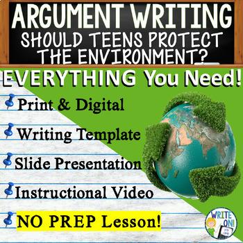 ARGUMENTATIVE / ARGUMENT WRITING PROMPT  - Environmental I