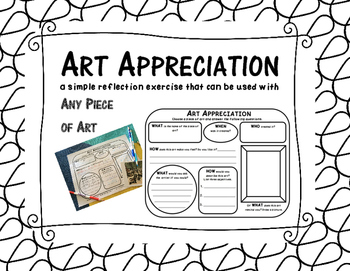 ART APPRECIATION a simple exercise that can be used with a