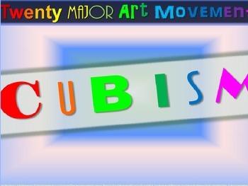 "ART HISTORY ""Cubism"" - 25 rich slides with graphics, sampl"