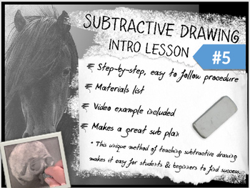 Subtractive / Reductive Charcoal Drawing Intro Lesson #5 f