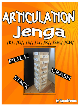 ARTICULATION JENGA for /K/,/G/,/S/,/L/,/R/,/SH/ and /CH/-