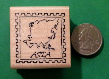 ASIA Continent/Passport Rubber Stamp