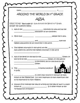 ASIA Guided Reading - TN Around the World In 3rd Grade
