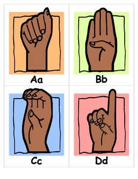 ASL ALPHABET SIGN LANGUAGE FLASHCARDS special education sp