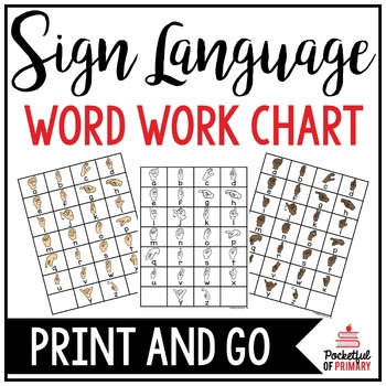 Sign Language Chart | WORD WORK CENTER