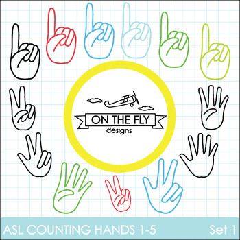 ASL Counting Hands 1-5   Set 1