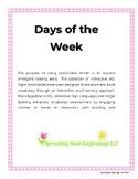 American Sign Language (ASL) ~Days of the Week
