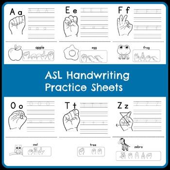 ASL Handwriting Practice Sheets