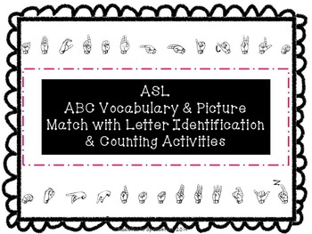 ASL Letters and Numbers Bundle