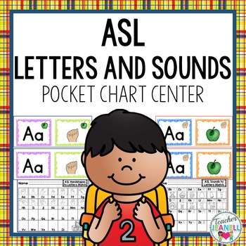 Sign Language Letters and Sounds Pocket Chart Center