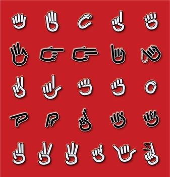 ASL Manual Alphabet — Clip Art