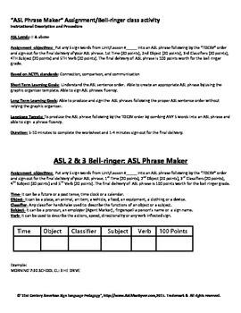 ASL Phrase Maker