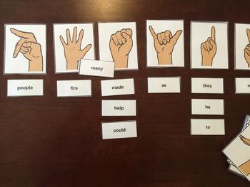 ASL hand shape cards
