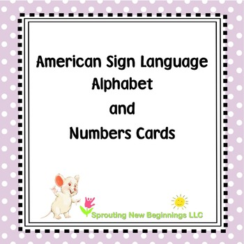 ASL (American Sign Language) ~Alphabet and Number Cards (F