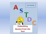 ASTDC: Embedding Quotes From the Text