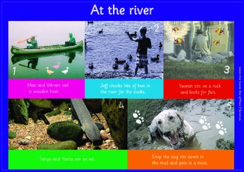 AT THE RIVER: A3 Phonics Poster and  Matching Board. End o