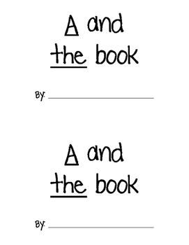 AT/THE Sight Word Practice Book