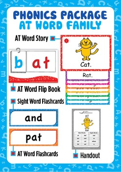'AT WORD FAMILY' Phonics Lesson Package