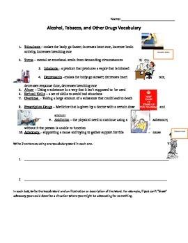ATOD Vocabulary Worksheet