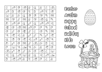 AUSLAN - Easter wordsearch