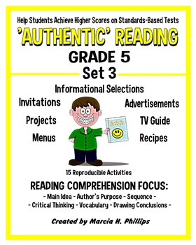 AUTHENTIC READING - GRADE 5 SET 3 (Of 8)