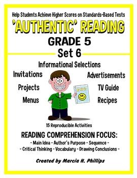 AUTHENTIC READING - GRADE 5 SET 6 (of 8)