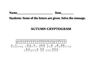 AUTUMN CRYPTOGRAM