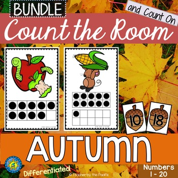AUTUMN / FALL Math - Count the Room ? Ten Frames and Numbe