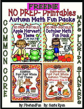AUTUMN MATH FREEBIE FROM MY MATH BUNDLES AND PART PART WHO