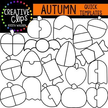 AUTUMN Quick Templates {Creative Clips Digital Clipart}