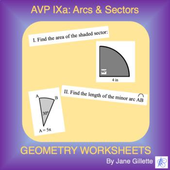 AVP IXa: Arcs and Sectors