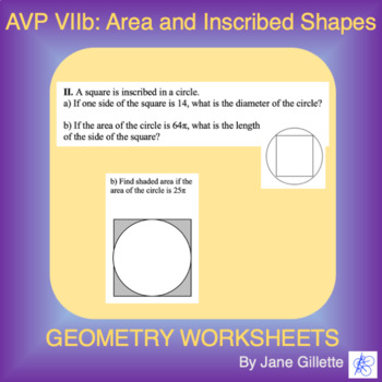AVP VIIb: Area of Inscribed Shapes