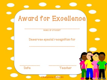 AWARDS FOR STUDENTS