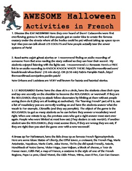 AWESOME HALLOWEEN ACTIVITIES in FRENCH