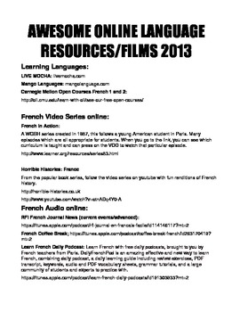 AWESOME Online Language Resources 2013 (French)
