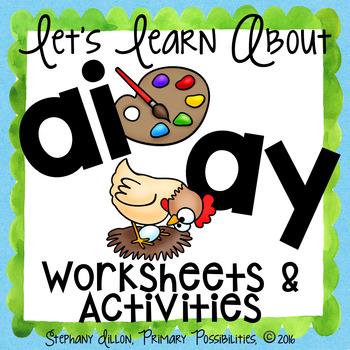 AY and AI Worksheets and Activities