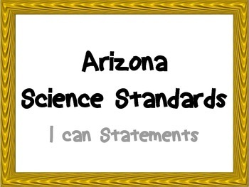 AZ 6th Grade Science I Can Posters