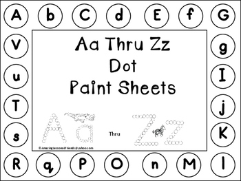 Aa Thru Zz Dot Paint Sheets