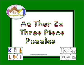 Aa Thru Zz Three Piece Puzzles