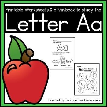 Letter A { Alphabet Practice }
