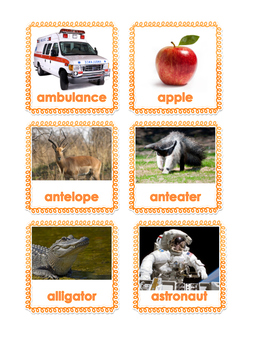 Aa words and pictures