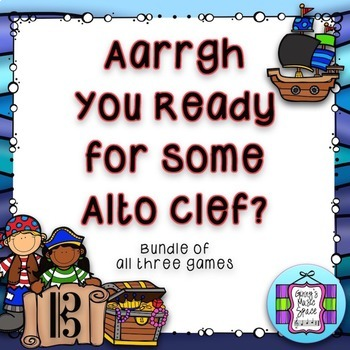 Aarrgh You Ready - Alto Clef Game - Bundle