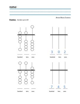 Abacus Practice worksheet
